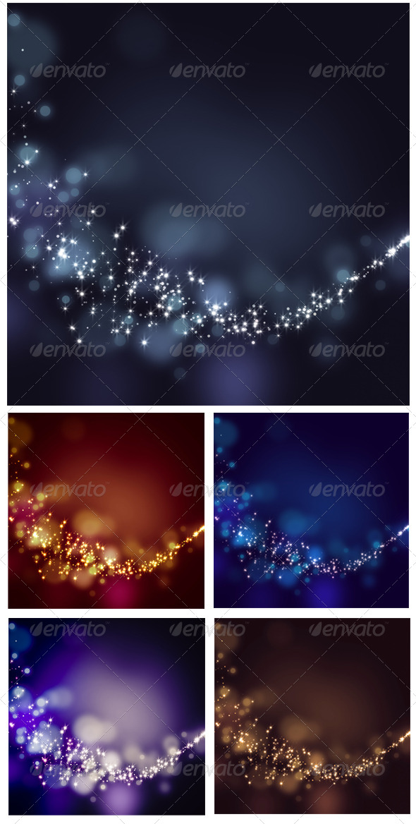 Glittering Stars on Bokeh Background - Abstract Backgrounds