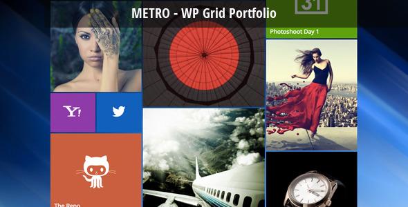 Metro - WordPress Grid Portfolio - CodeCanyon Item for Sale