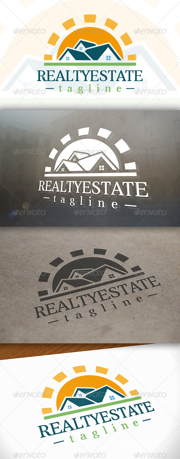 Sun Real Estate Logo - Buildings Logo Templates