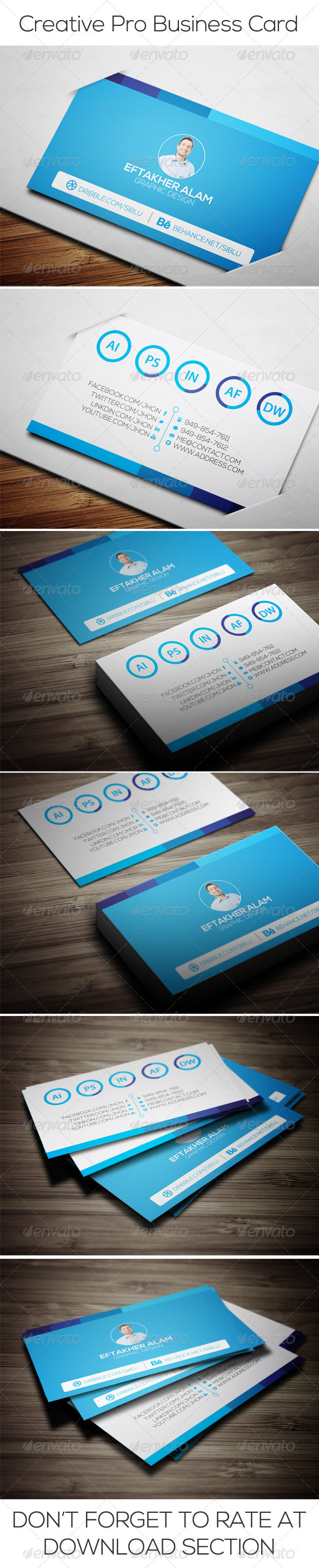 Creative Pro Business Card - Business Cards Print Templates