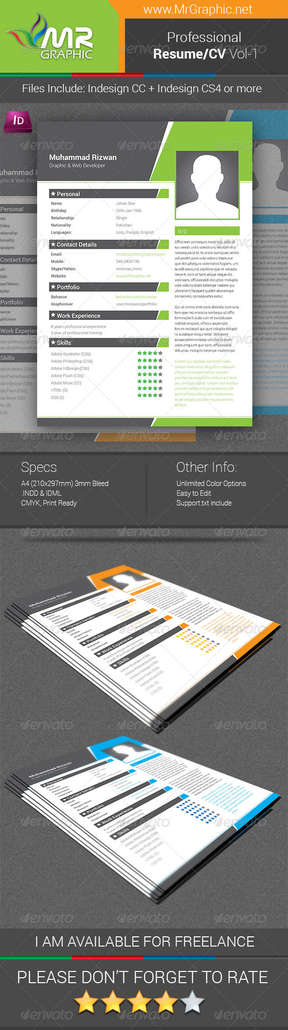 Professional Resume/CV Vol-01 - Resumes Stationery