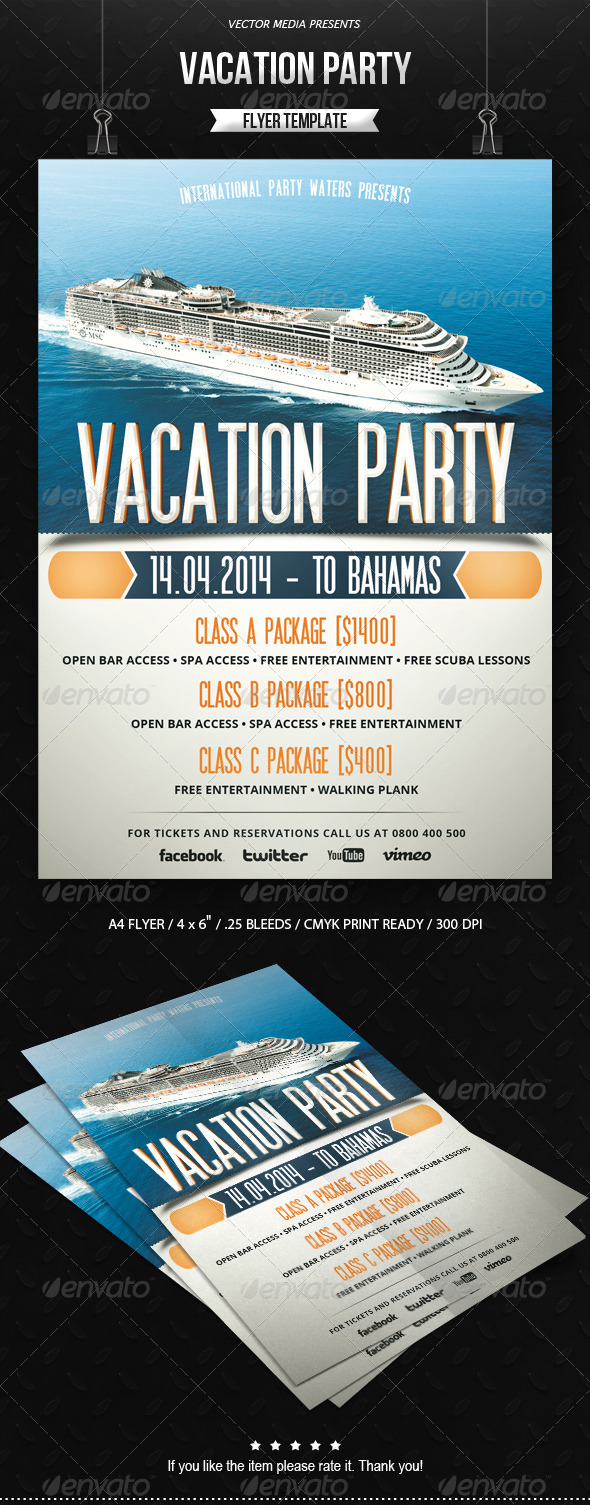 Vacation Party - Flyer - Holidays Events