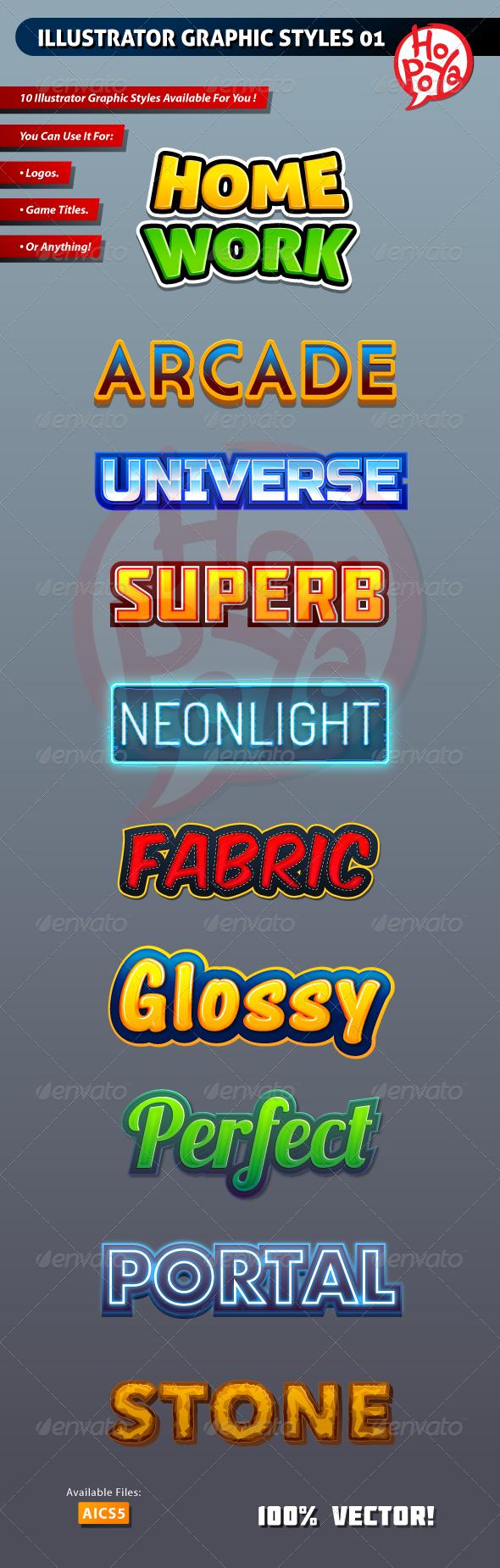 Illustrator Graphic Styles 01 - Styles Illustrator