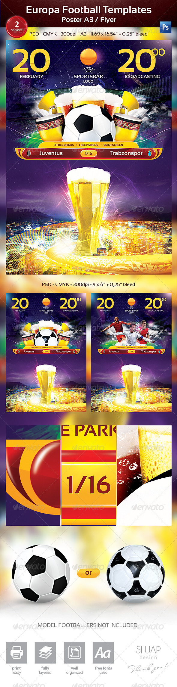 Europa Football Templates - Sports Events