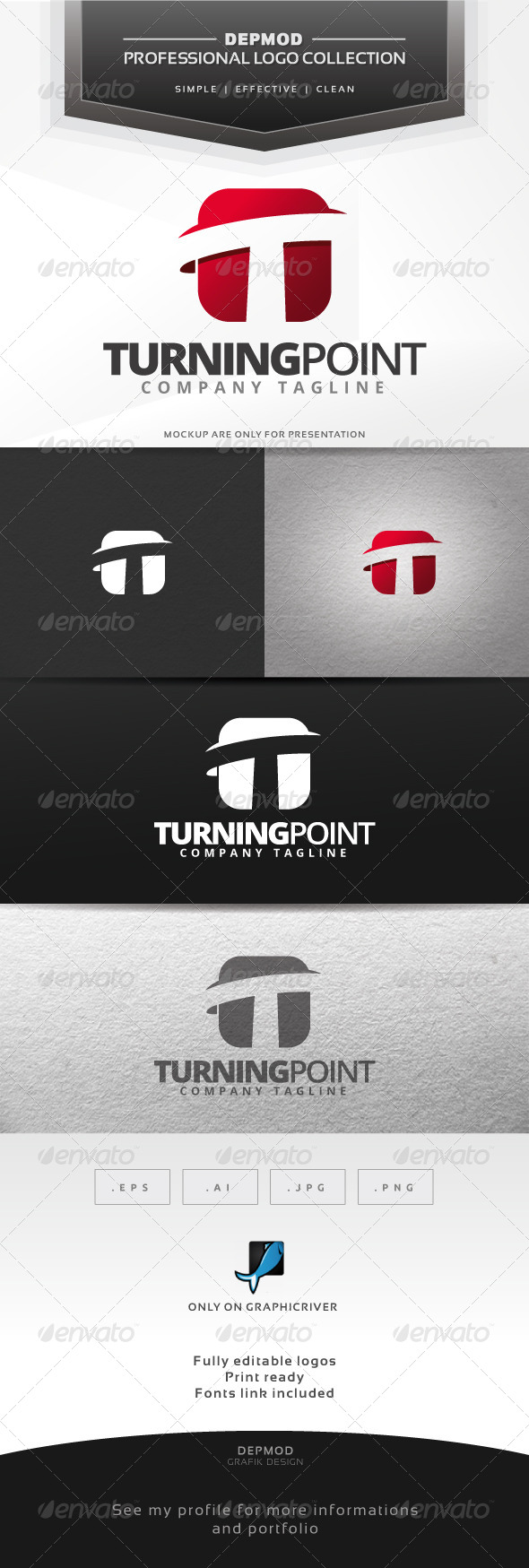 Turning Point Logo - Letters Logo Templates