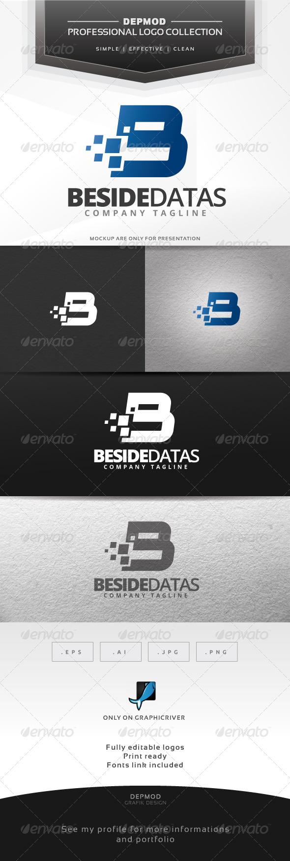 Beside Datas Logo - Letters Logo Templates