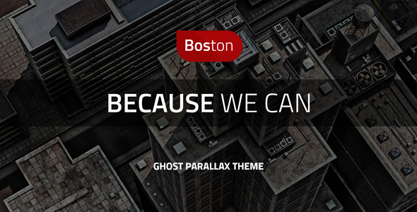 Boston – Corporate Parallax GHOST Template