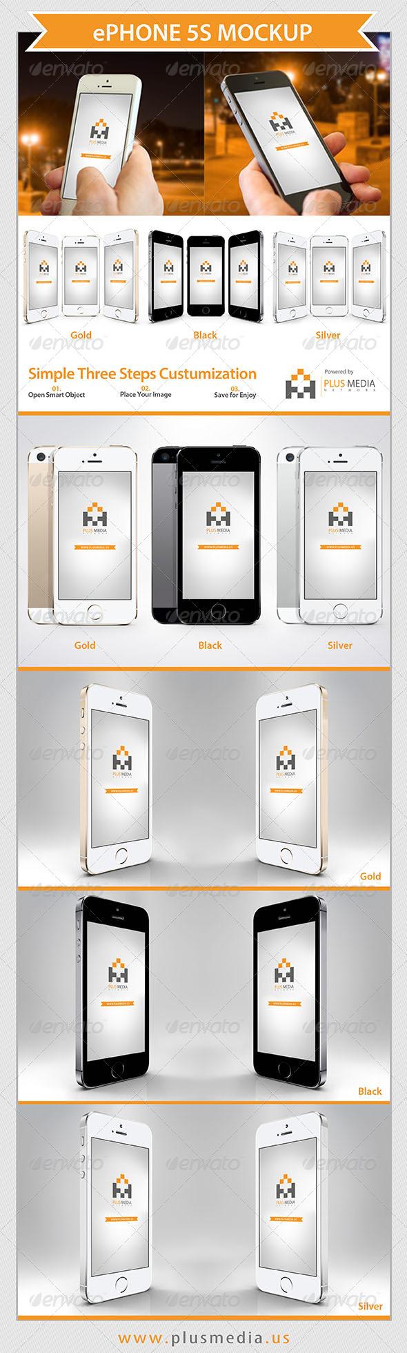 ePhone 5S Mockup - Mobile Displays