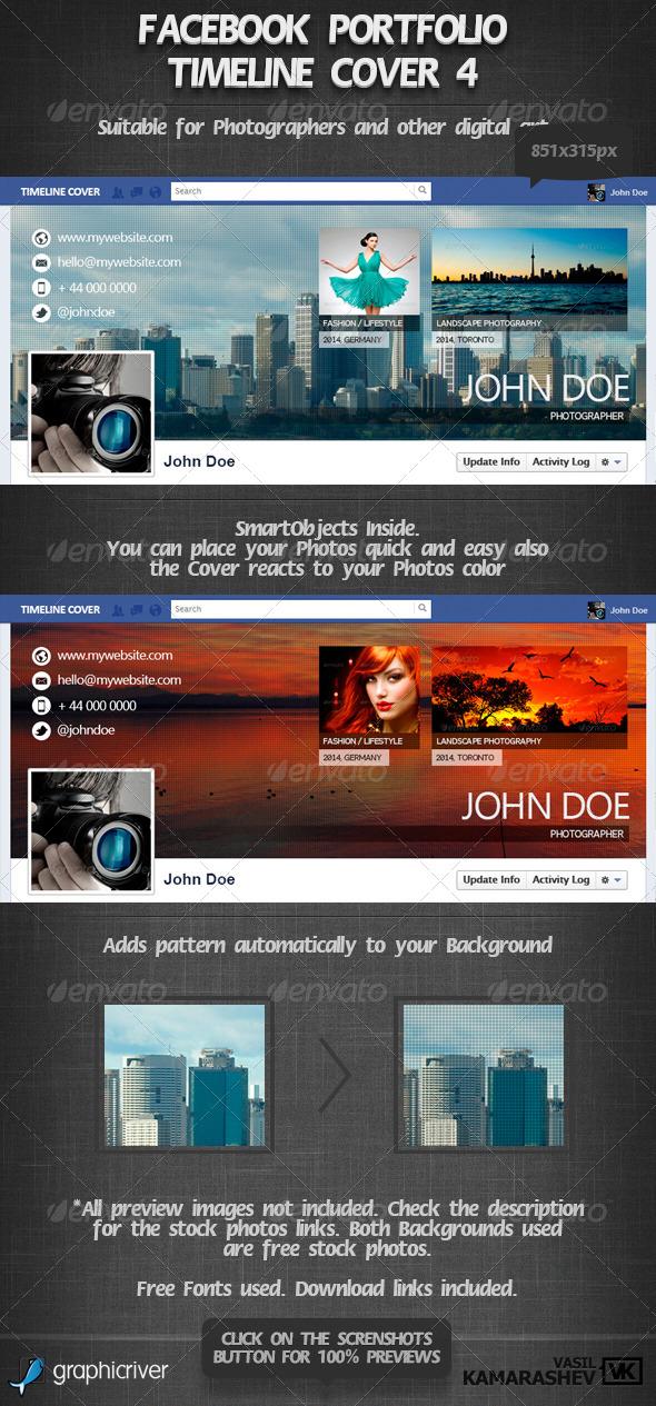 Facebook Portfolio Timeline Cover 4 - Facebook Timeline Covers Social Media