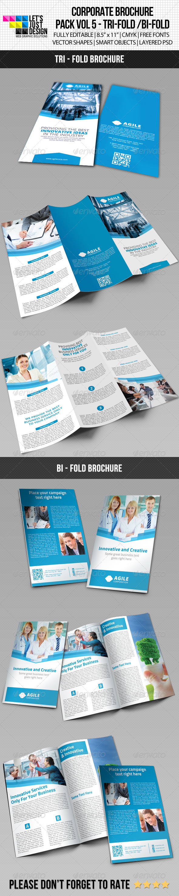 Creative Corporate Brochure Pack Vol 5 - Brochures Print Templates