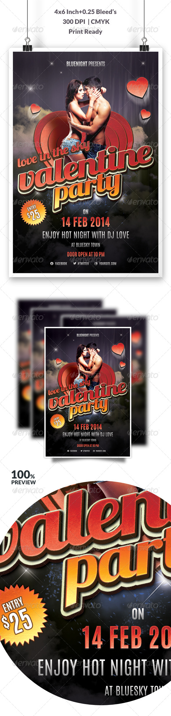 Valentines Party Flyer Vol 2 - Events Flyers