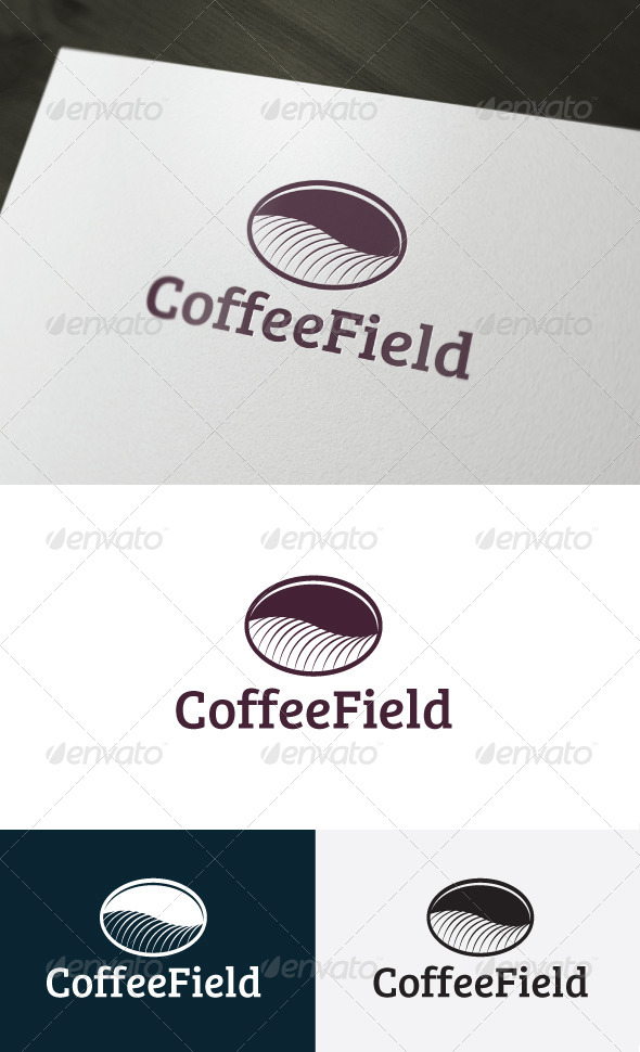 Coffee Field Logo - Food Logo Templates