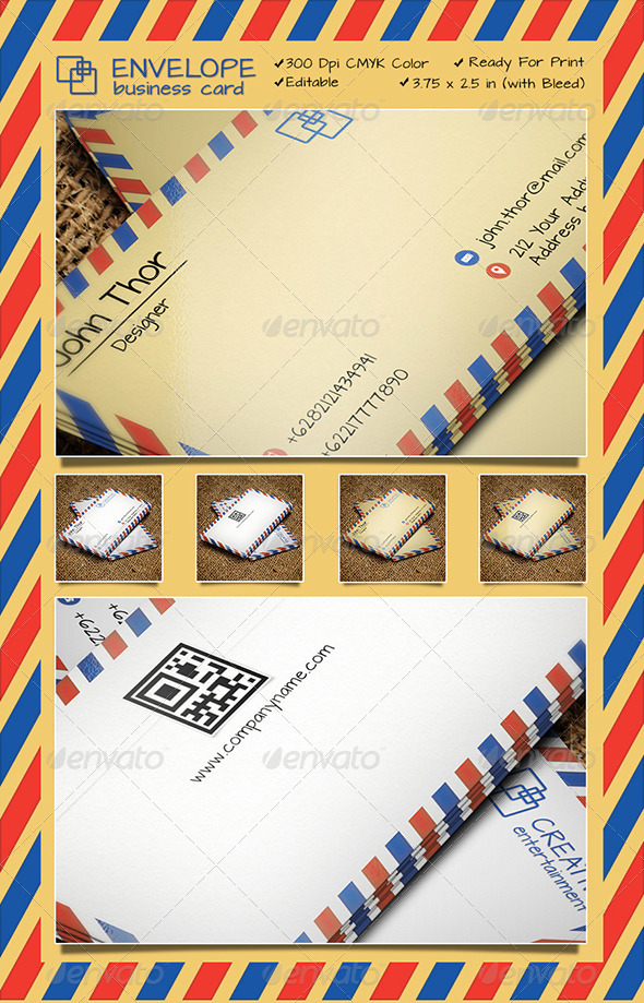 ENVELOPE BUSINESS CARD - Business Cards Print Templates