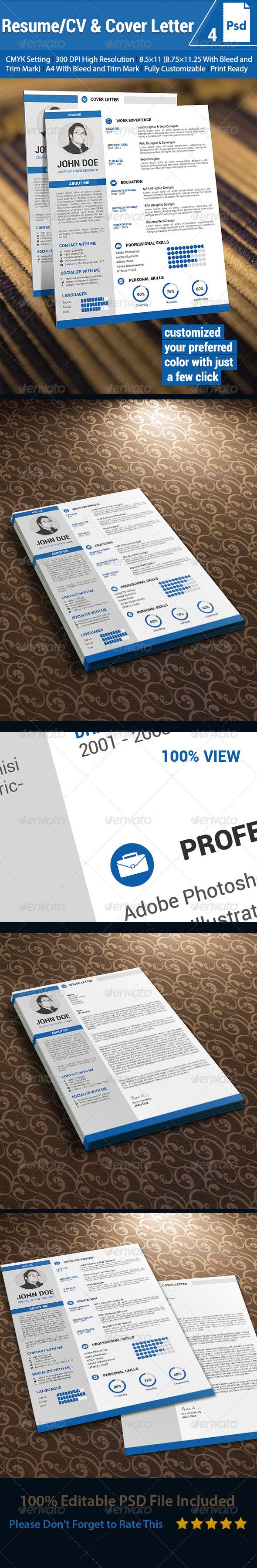 Resume/CV & Cover Letter - Resumes Stationery