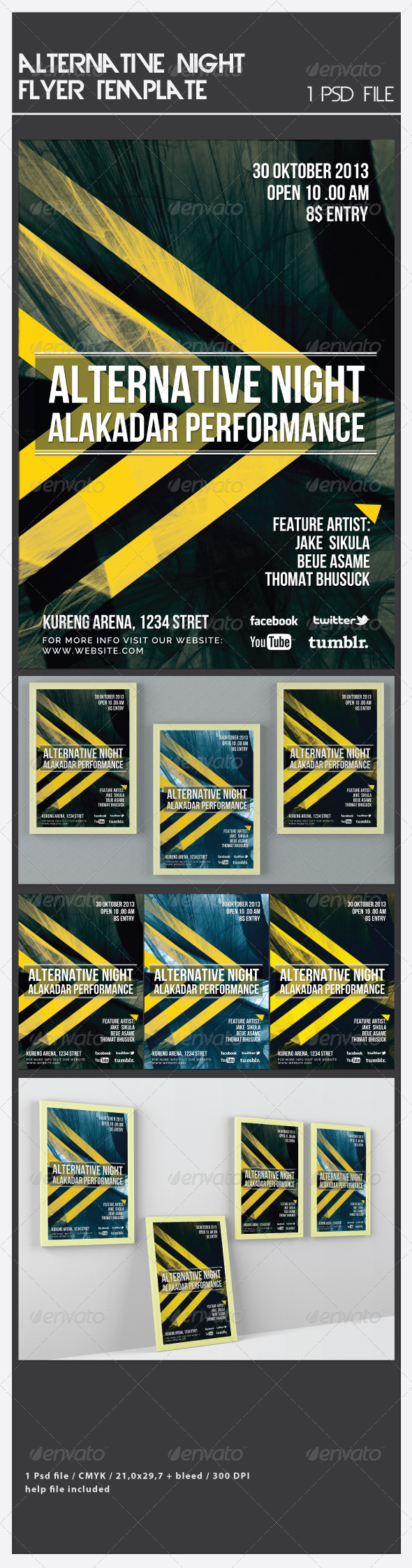 Alternative Night Flyer Template - Flyers Print Templates
