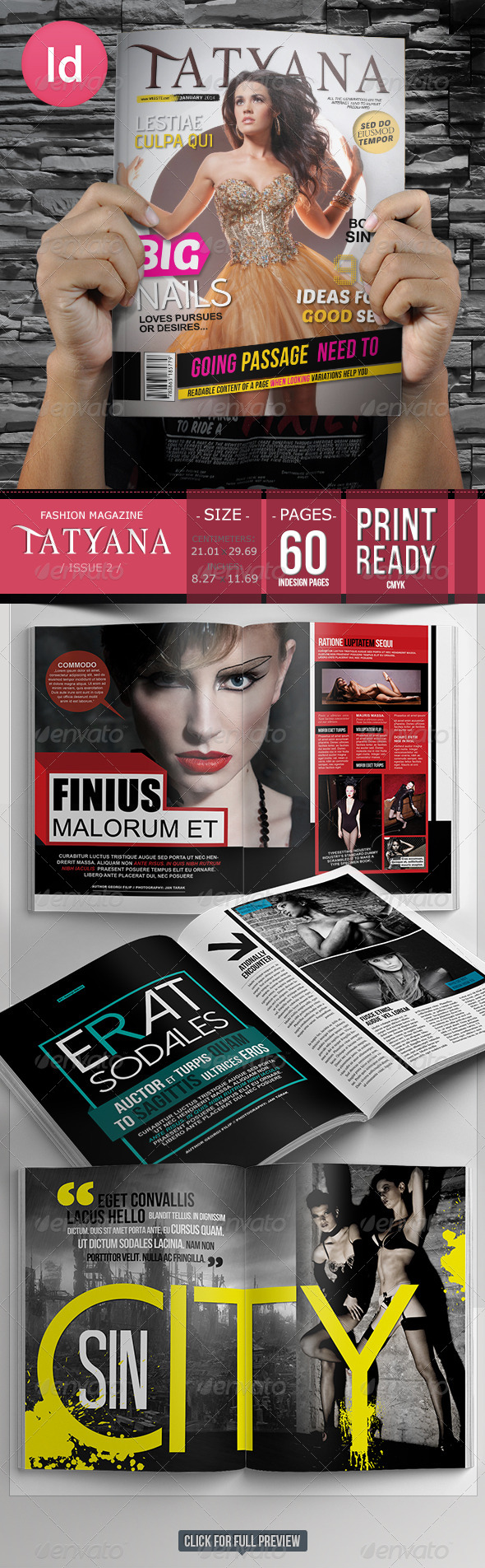 60 Pages Fashion Magazine Issue 2 - Magazines Print Templates