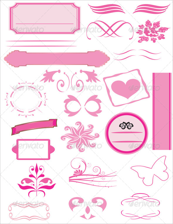 Valentine Day Calligraphic and Vintage Set - Seasons/Holidays Conceptual