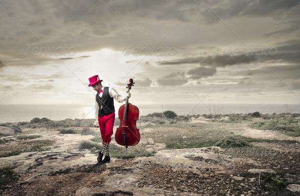 cellist - Stock Photo - Images