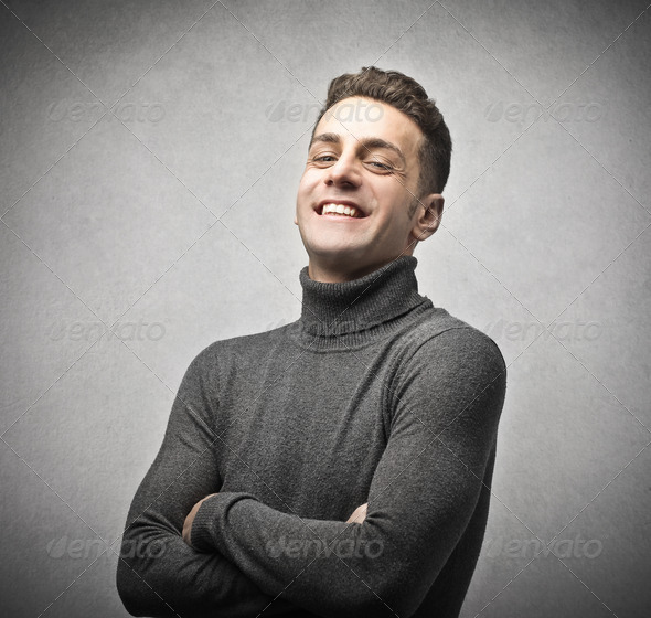 happy guy - Stock Photo - Images