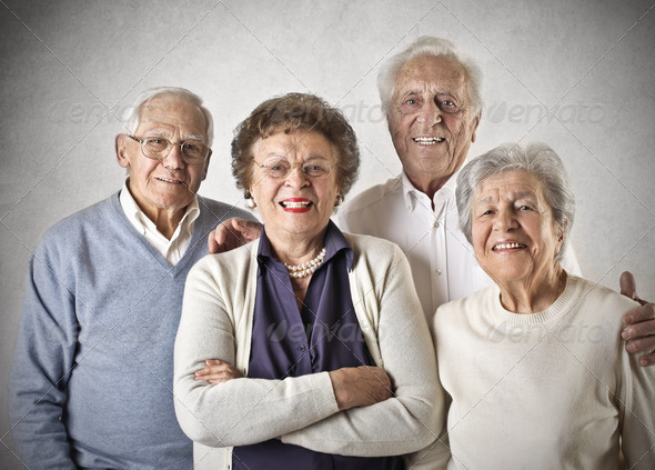 happy old people - Stock Photo - Images