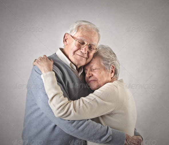 loving old couple - Stock Photo - Images