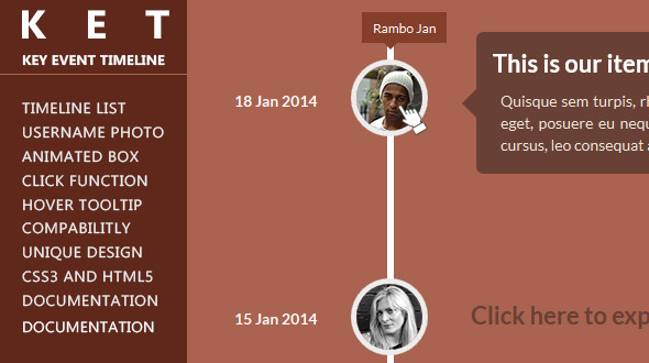 KET - Responsive CSS3 Timeline - CodeCanyon Item for Sale