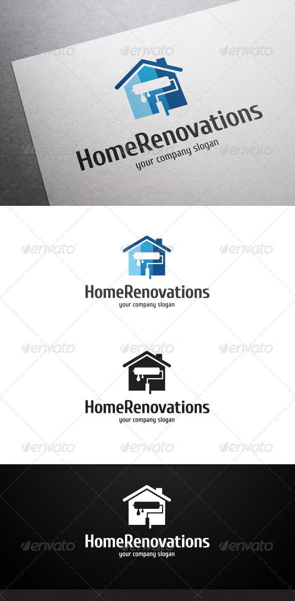 Home Renovations Logo - Buildings Logo Templates