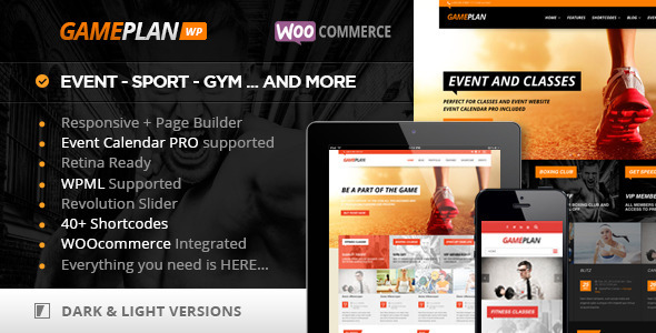 Gameplan - Event and Gym Fitness WordPress Theme - Creative WordPress