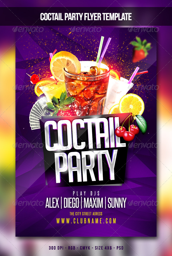 Coctail Party Flyer - Clubs & Parties Events
