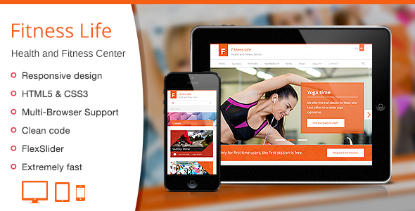 Fitness Life – Gym/Fitness HTML Template