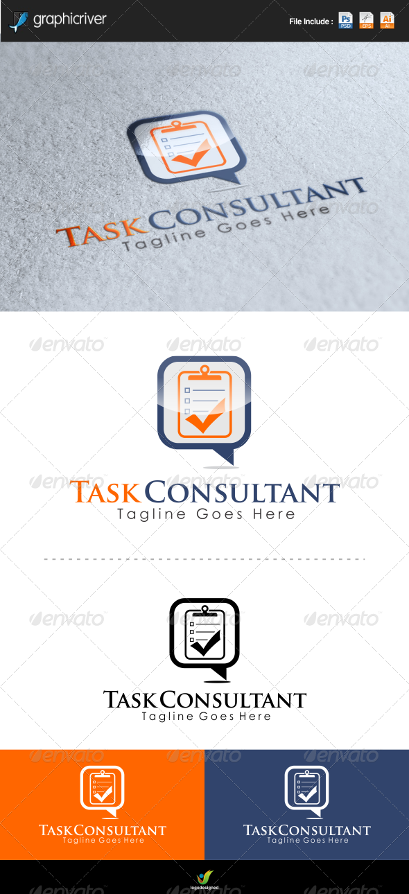 Task Consulting Logo Template - Symbols Logo Templates