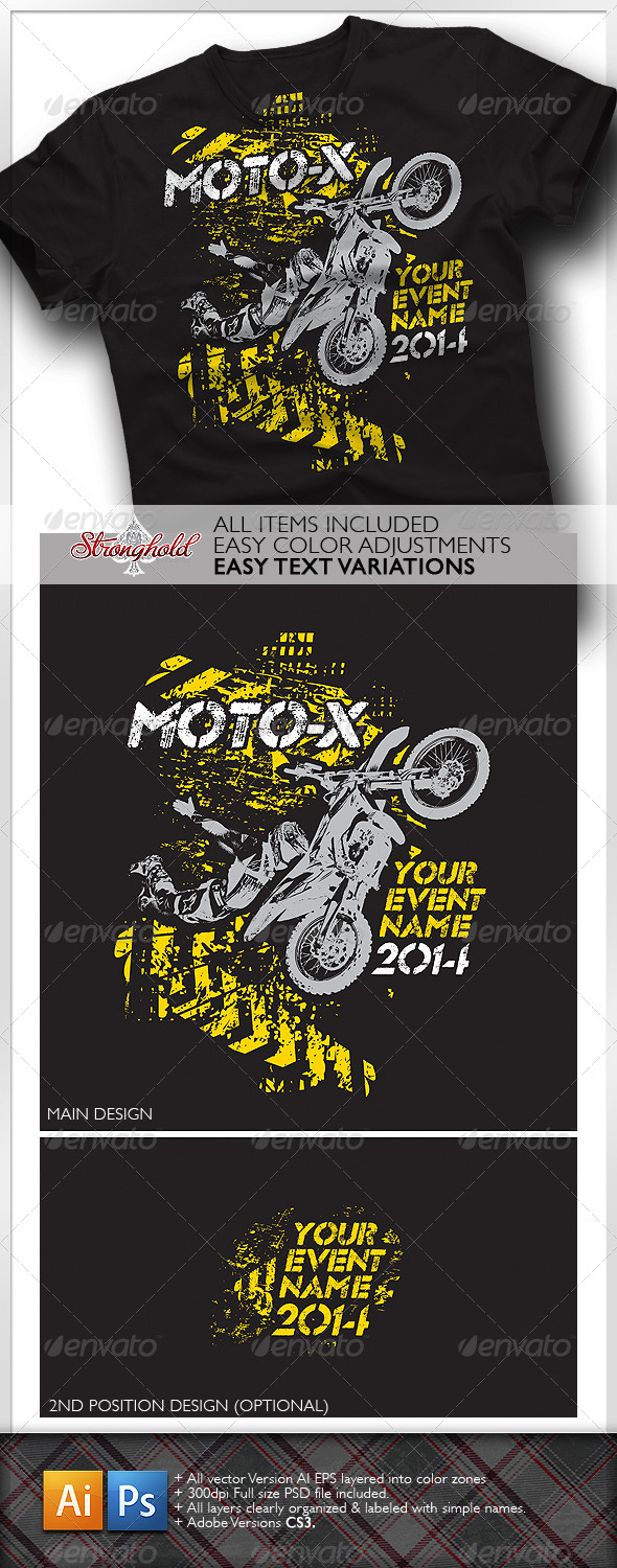 Moto X Team T-Shirt Template - Sports & Teams T-Shirts
