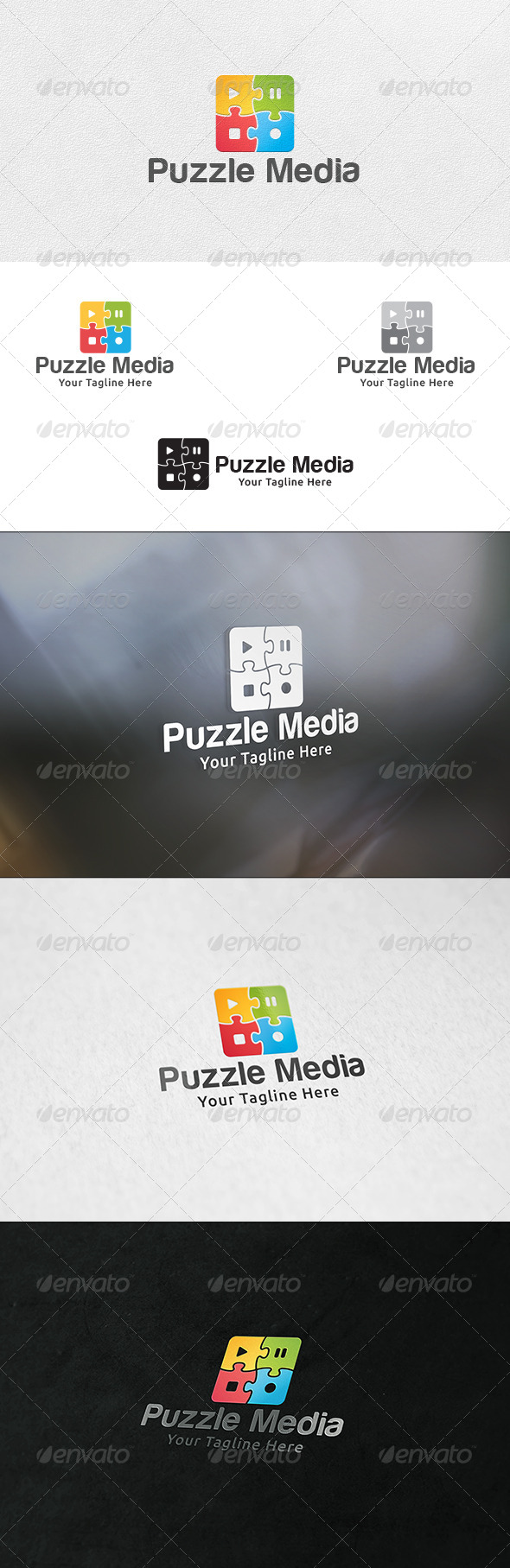 Puzzle Media - Logo Template - Symbols Logo Templates