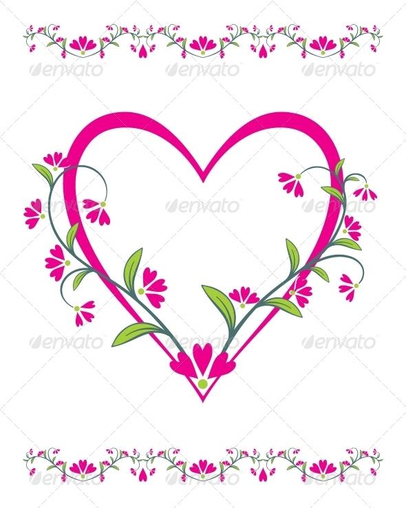 Beautiful Abstract Illustration for Valentine's Day - Decorative Symbols Decorative
