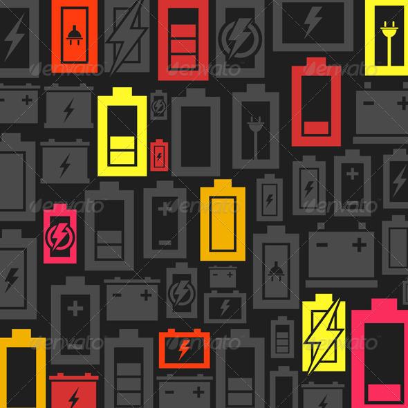 Battery Background - Backgrounds Decorative