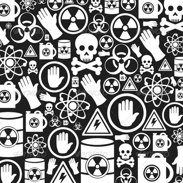 Danger Background - Backgrounds Decorative