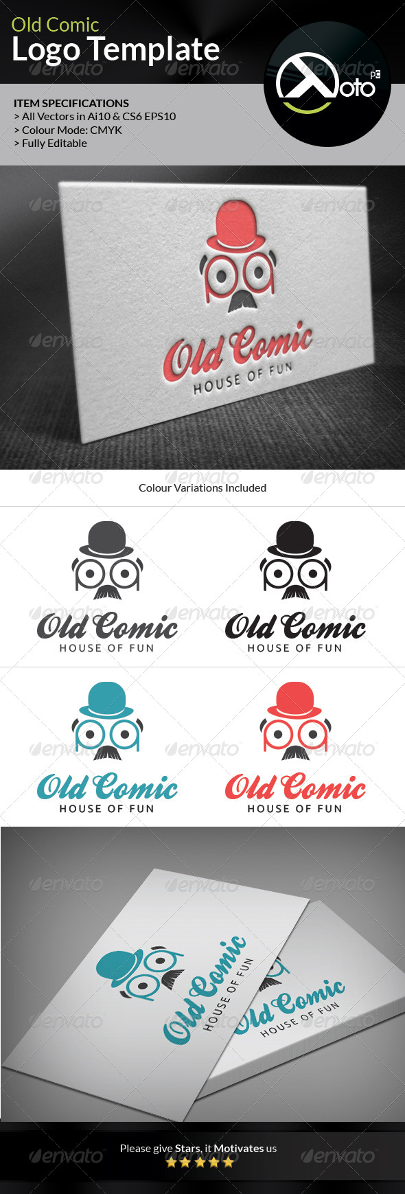 Old Comic Comedy Bar Logo - Humans Logo Templates