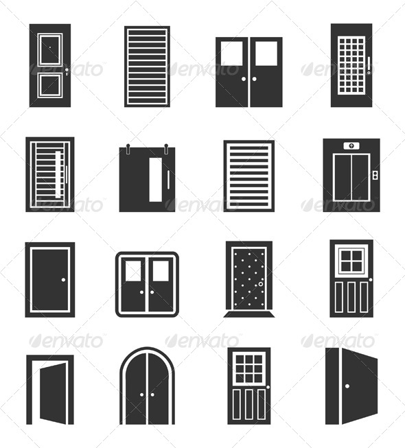 Door Icons - Man-made Objects Objects  sc 1 st  GraphicRiver & Door Icons by aleksandr-mansurov-ru | GraphicRiver