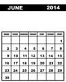 June calendar 2014 - PhotoDune Item for Sale