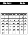March calendar 2014 - PhotoDune Item for Sale