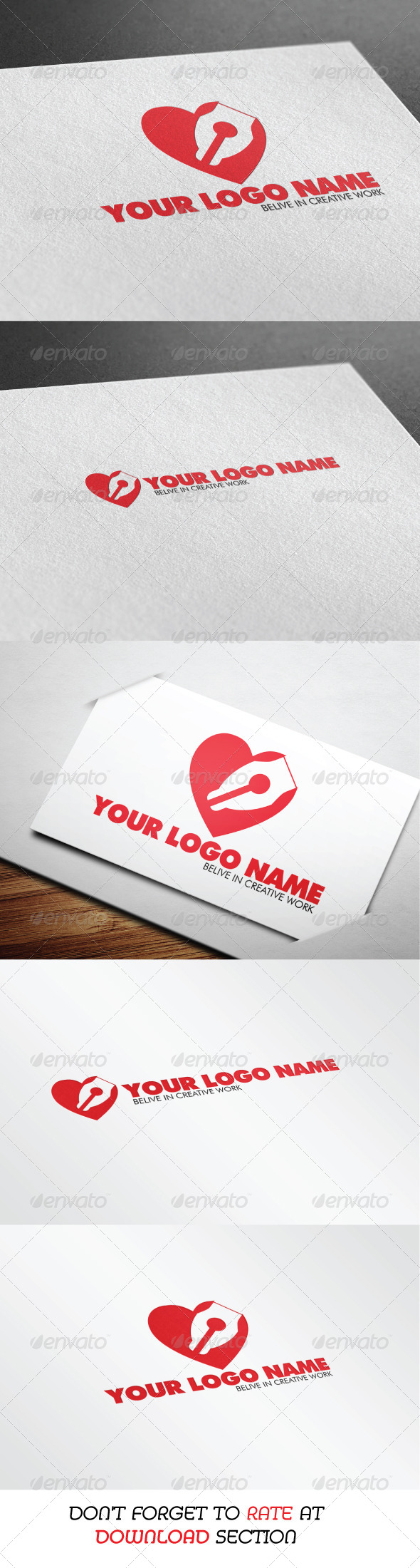 Lovely Design Logo - Objects Logo Templates