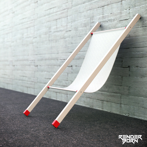 Wall Chair - 3DOcean Item for Sale