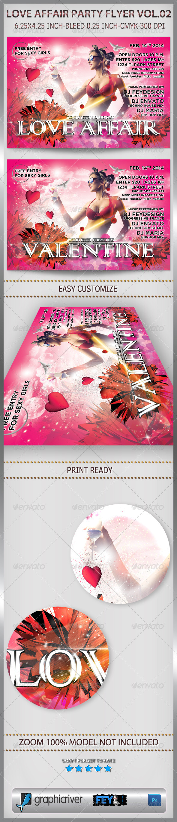 Love Affair Party Flyer Vol.02 - Events Flyers