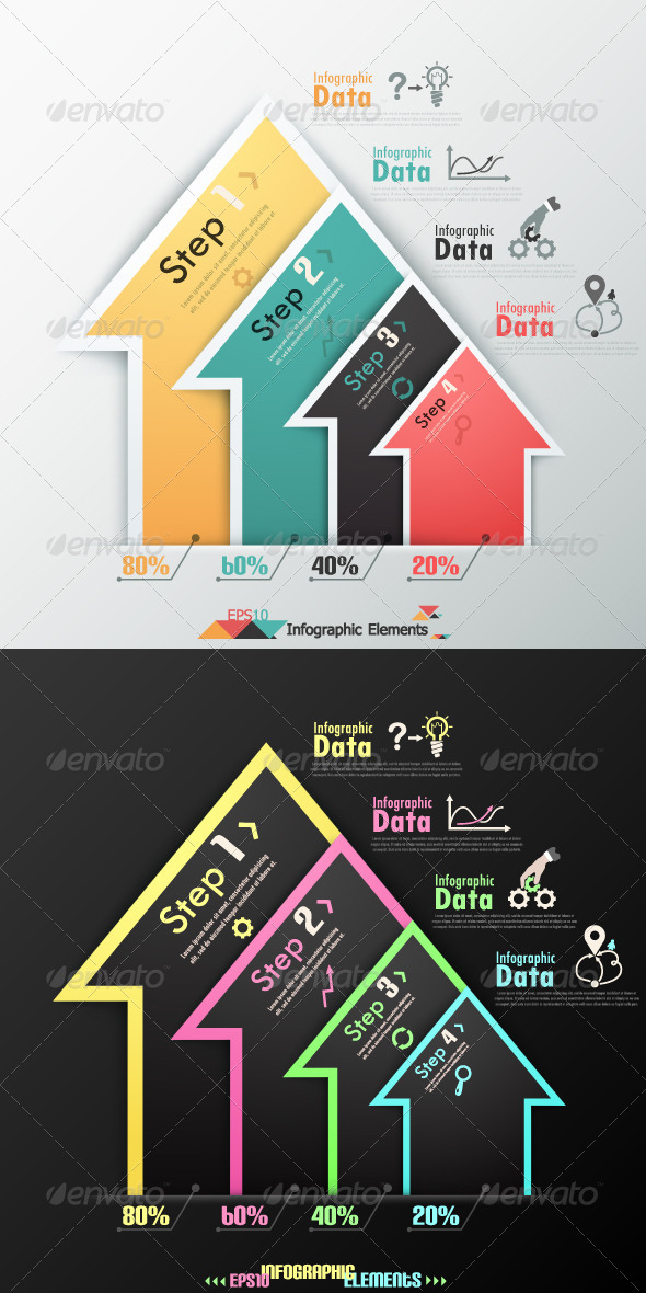 Modern Infographics Options Banner(Two Versions) - Infographics