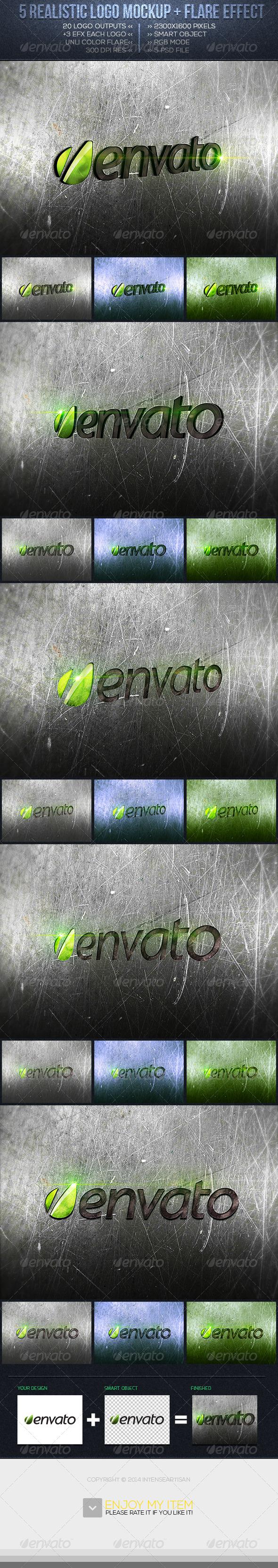Realistic Logo Mockup Vol.2 - Logo Product Mock-Ups