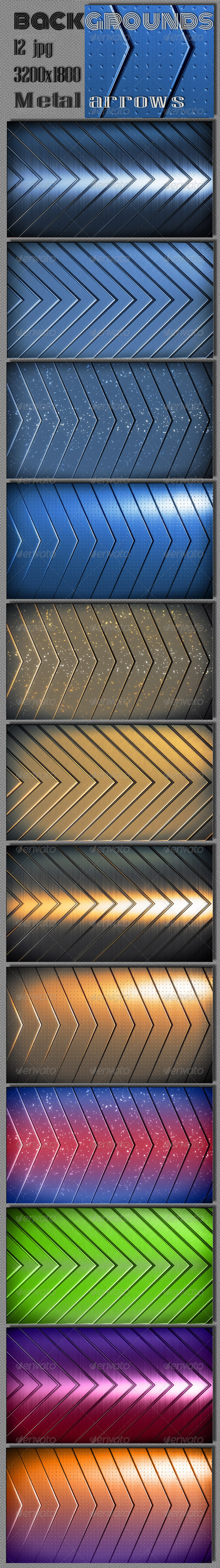 Techno Metal Arrows Backgrounds - Tech / Futuristic Backgrounds