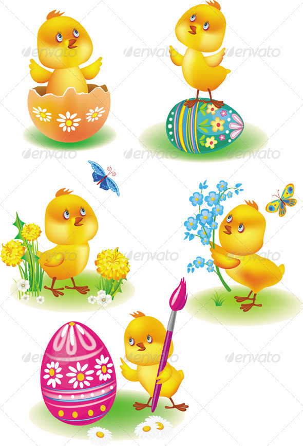 Easter Chicks - Miscellaneous Seasons/Holidays