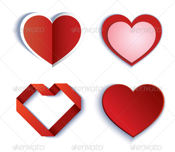 Set of Symbol Heart - Vectors