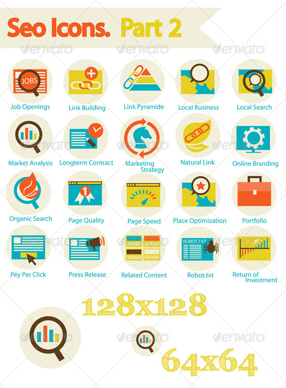 SEO Icons Set Part 2 - Web Icons