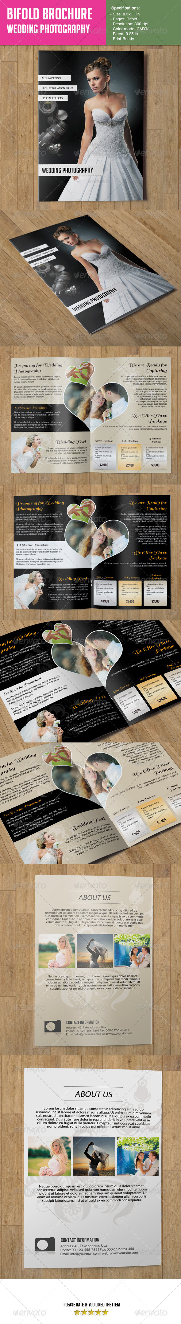 Bifold Brochure- Wedding Photography - Corporate Brochures
